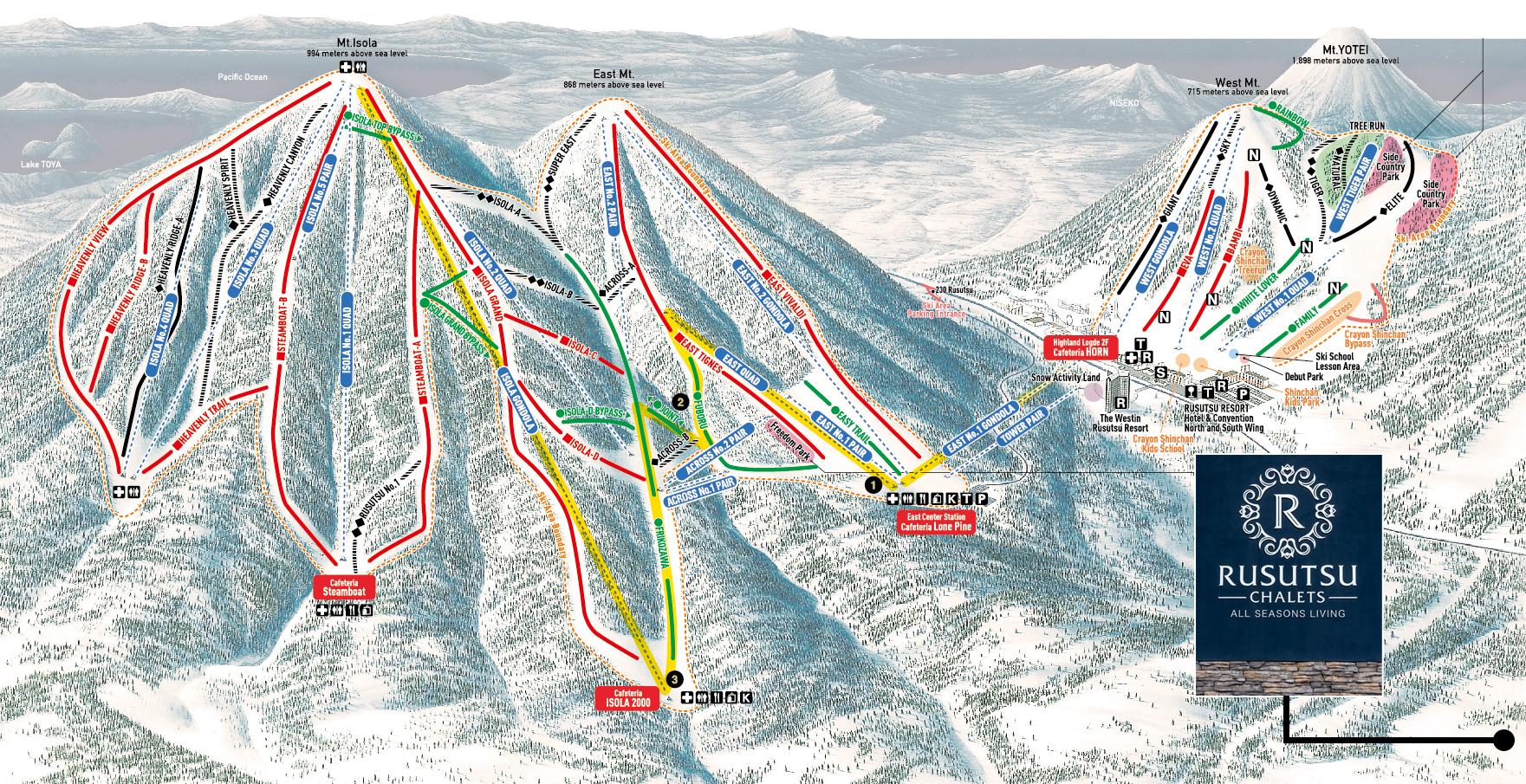 Distance to ski lifts